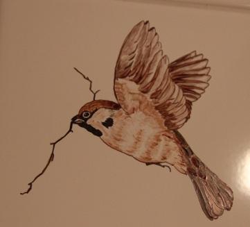 Décoration peinte à la main par la maîtresse de maison !