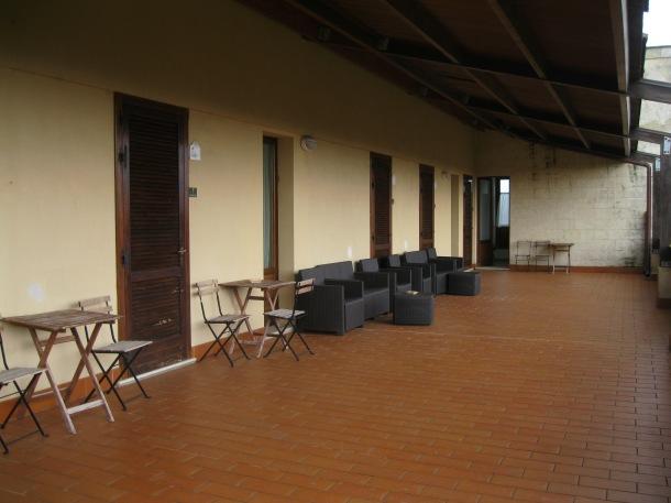 La terrasse des chambres