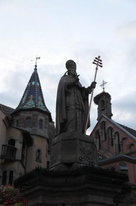 Eguisheim, Alsace - Lieu de naissance du pape saint Léon IX